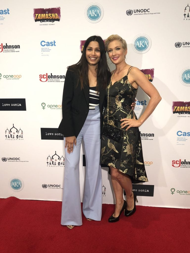 Amber Kelleher-Andrews and Freida Pinto, Love Sonia Movie