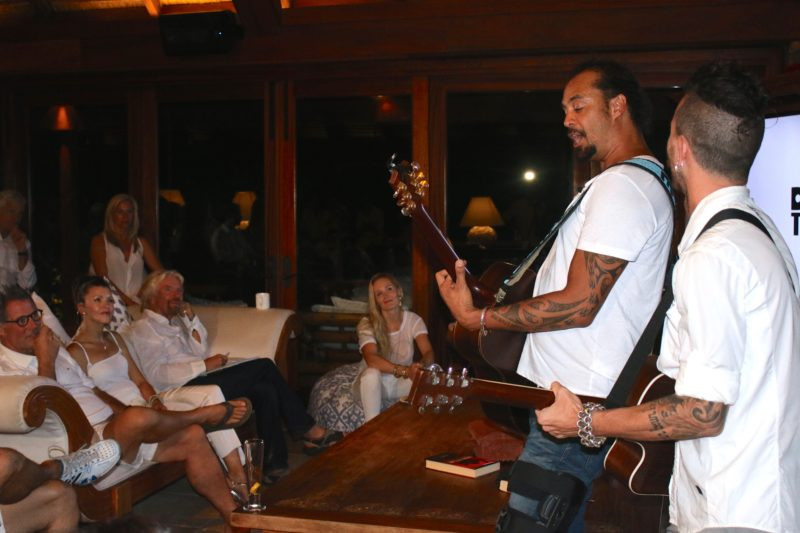 Richard Branson, Michael Franti on Necker Island