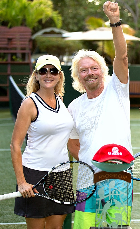 Amber Kelleher-Andrews and Richard Branson