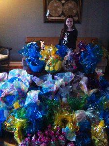 Gina_easter baskets_Kelleher International Scholarship Winner