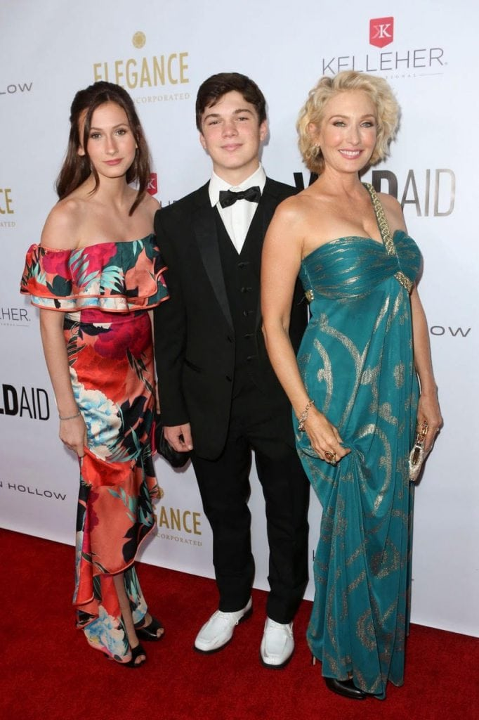 Kelleher International_WildAid Gala 2019 Amber Kelleher-Andrews with her teens.